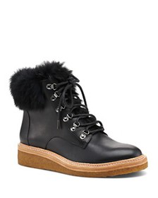 Botkier - Women's Winter Leather Lace Up Boots