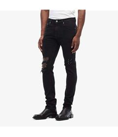 Versace Jeans Couture Skinny Fit Jeans Chain Knee