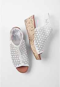 Justice Cutout Wedge Sandals