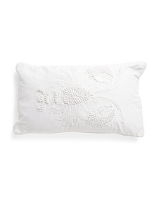 ENVOGUE 14x24 French Knot Lobster Applique Pillow