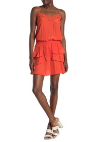 Ramy Brook Blaire Eyelet Lace Layered Dress