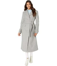 Kate Spade New York Long Line Trench with Ruffle D