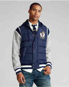 Ralph Lauren Down-Paneled Baseball Jacket