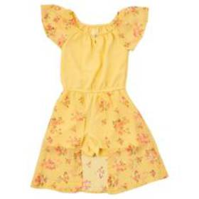 Girls (4-6x) One Step Up Mixed Fabric Floral Walk