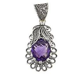 Ottoman Silver Jewelry 4ct African Amethyst Blosso