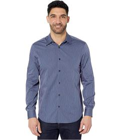 Perry Ellis Twill Stripe Long Sleeve Button-Down S