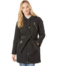 MICHAEL Michael Kors Belted Snap Front Quilt M4229