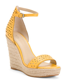 BOTKIER Ankle Strap Espadrille Leather Sandals