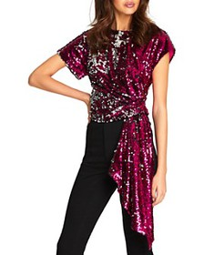 Alice McCall - Electric Orchid Sequined Top