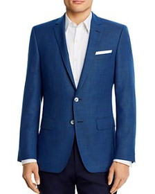 BOSS - Hutsons Wool Textured Blue Slim Fit Sportco