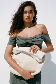 UO Embroidered Cactus Tote Bag