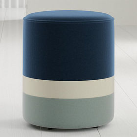 Crate Barrel Oden Round Upholstered Stool