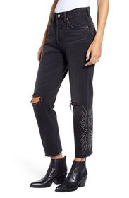 Levi's 501® Ripped High Waist Crop Jeans