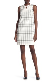Tommy Hilfiger Windowpane Print Sheath Dress