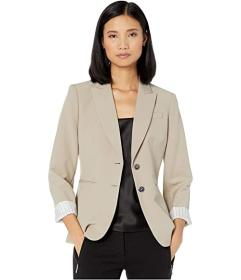 Tahari by ASL Two-Button Jacket w\u002F Roll Sleev