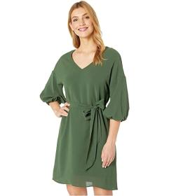 Adrianna Papell Gauzy Crepe Bubble Sleeve Dress wi