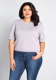 ModCloth ModCloth Top Choice Short Sleeve Sweatshi