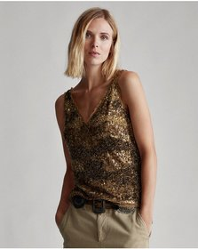 Ralph Lauren Sequined Tank Top