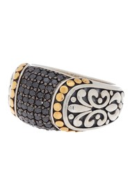 Effy Sterling Silver & 18K Yellow Gold Pave Black