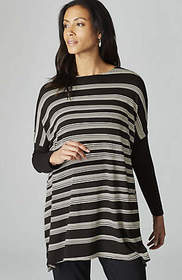 Wearever Striped Poncho-Style Top