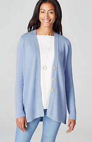 Elliptical V-Neck Cardi
