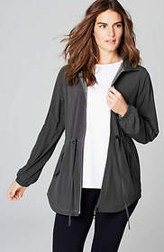 Fit Hooded Shirttail Jacket