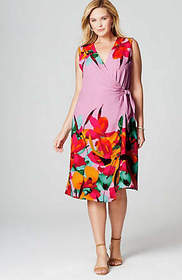 Christian Siriano For J.Jill Floral Wrap Dress