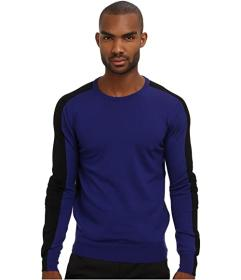 CoSTUME NATIONAL Color Block Crewneck Sweater