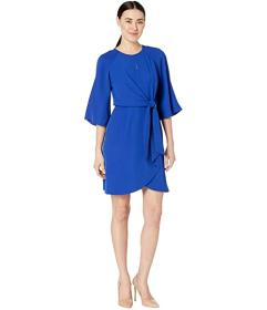 Tahari by ASL Petite Short Sleeve Crepe Shift w\u0