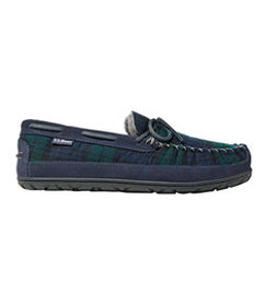 LL Bean Men's Wicked Good Slipper Moccasins, Plaid