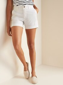 Mid-Rise Twill Everyday Shorts for Women - 5-inch
