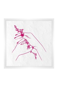 PTM Images Small Line Drawing #1 Square Canvas