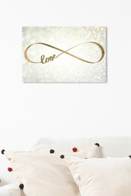 Oliver Gal Gallery Sparkle Love Canvas Art