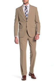 Dockers Tan Solid Two Button Notch Lapel Suit