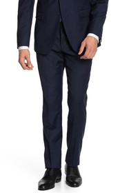 Original Penguin Navy Check Slim Fit Suit Separate