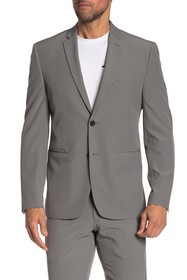 Perry Ellis Grey Solid Two Button Notch Lapel Very