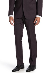 Calvin Klein Slim Fit Stretch Burgundy Neat Suit S
