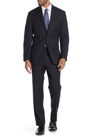 Calvin Klein Navy Stripe Two Button Notch Lapel Wo