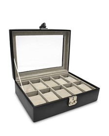 ROYCE New York - Ten-Slot Leather Watch Box