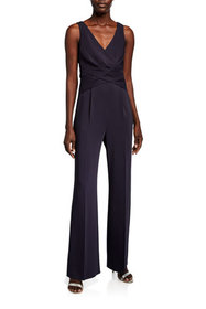 Kobi Halperin Sheila V-Neck Sleeveless Draped-Bodi
