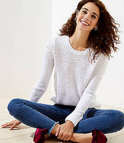 Petite Pearlized Sweater