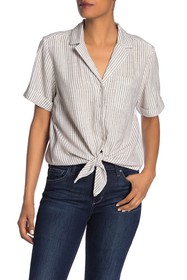 French Connection Laiche Tie Front Shirt