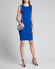 Helmut Lang Crewneck Sleeveless Bodycon Dress