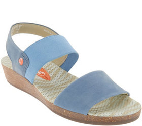 """As Is"" Softinos by FLY London Leather Sandals- Al"