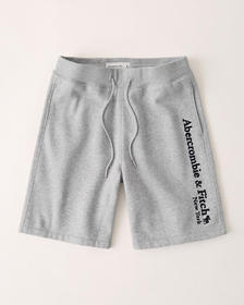 Fleece Logo Shorts, HEATHER GREY