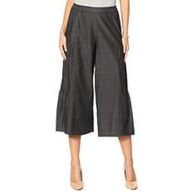 """""""As Is"""" Antthony Side Panel Tiered Gaucho Pant"""