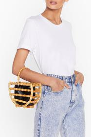 Nasty Gal Natural WANT Wooden Put It Past 'Em Grab