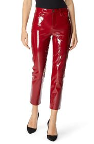 J Brand Ruby Cropped Leather Cigarette Jeans