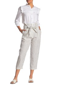 ALLEN SCHWARTZ Nina Striped Paperbag Pants