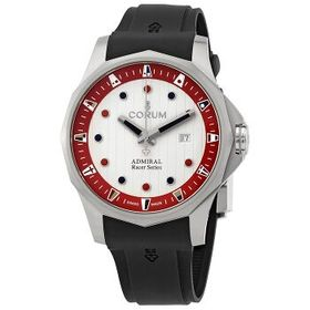 CorumAdmiral Racer White-Red Dial Automatic Men's